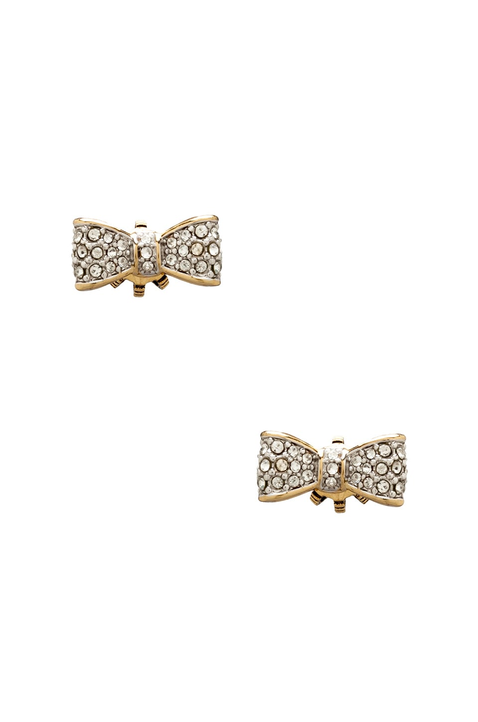 Juicy Couture Pave Bow Studs in Gold