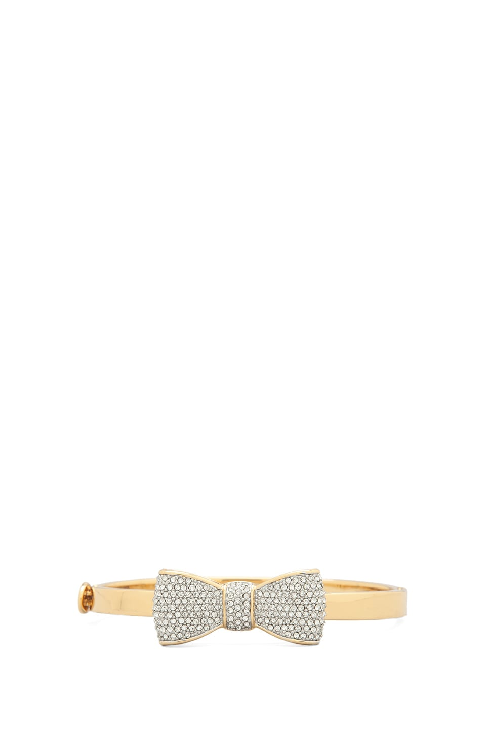Juicy Couture Pave Bow Hinge Bangle in Gold