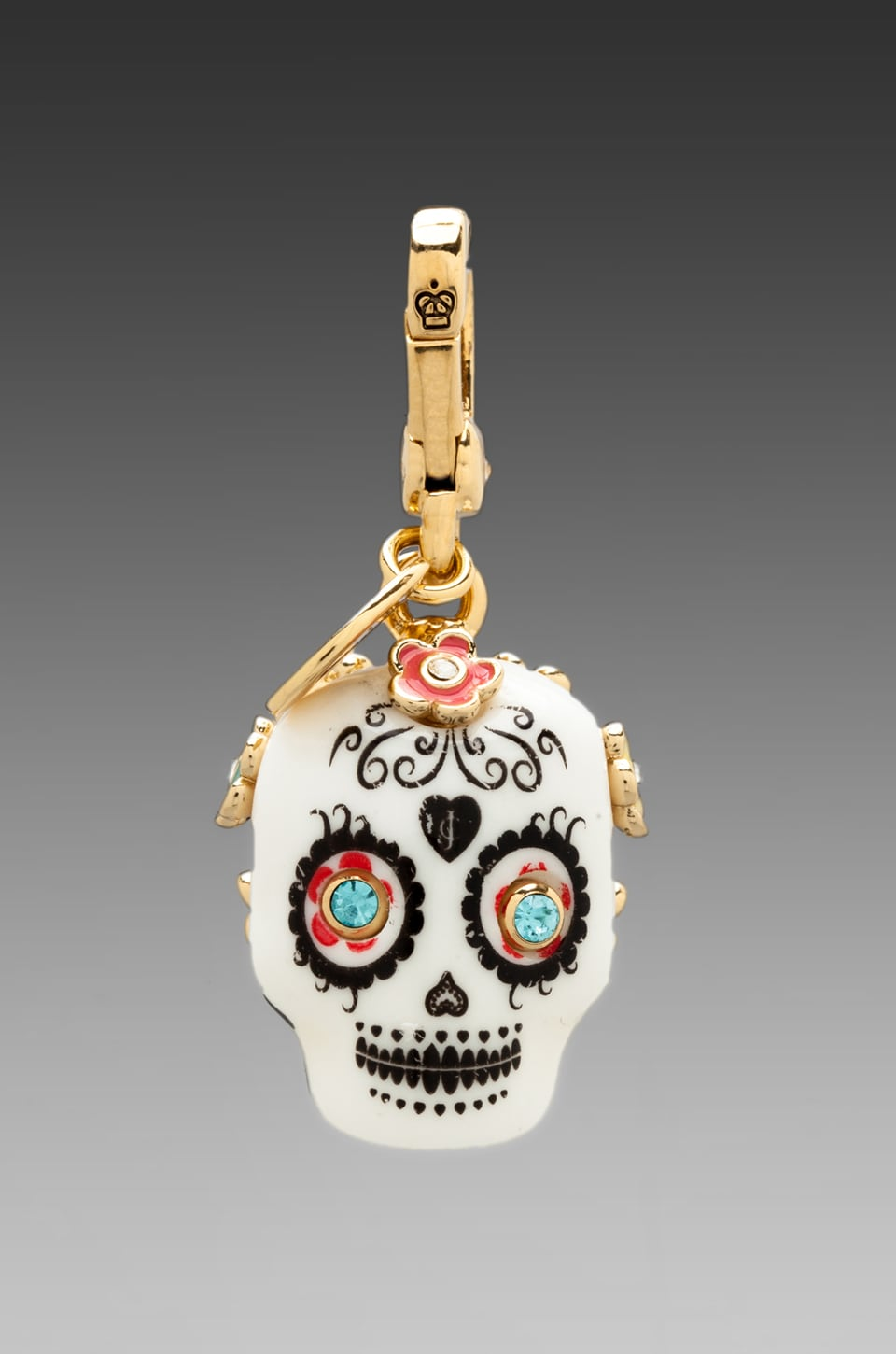 Juicy Couture Limited Edition Sugar Skull Charm in Gold