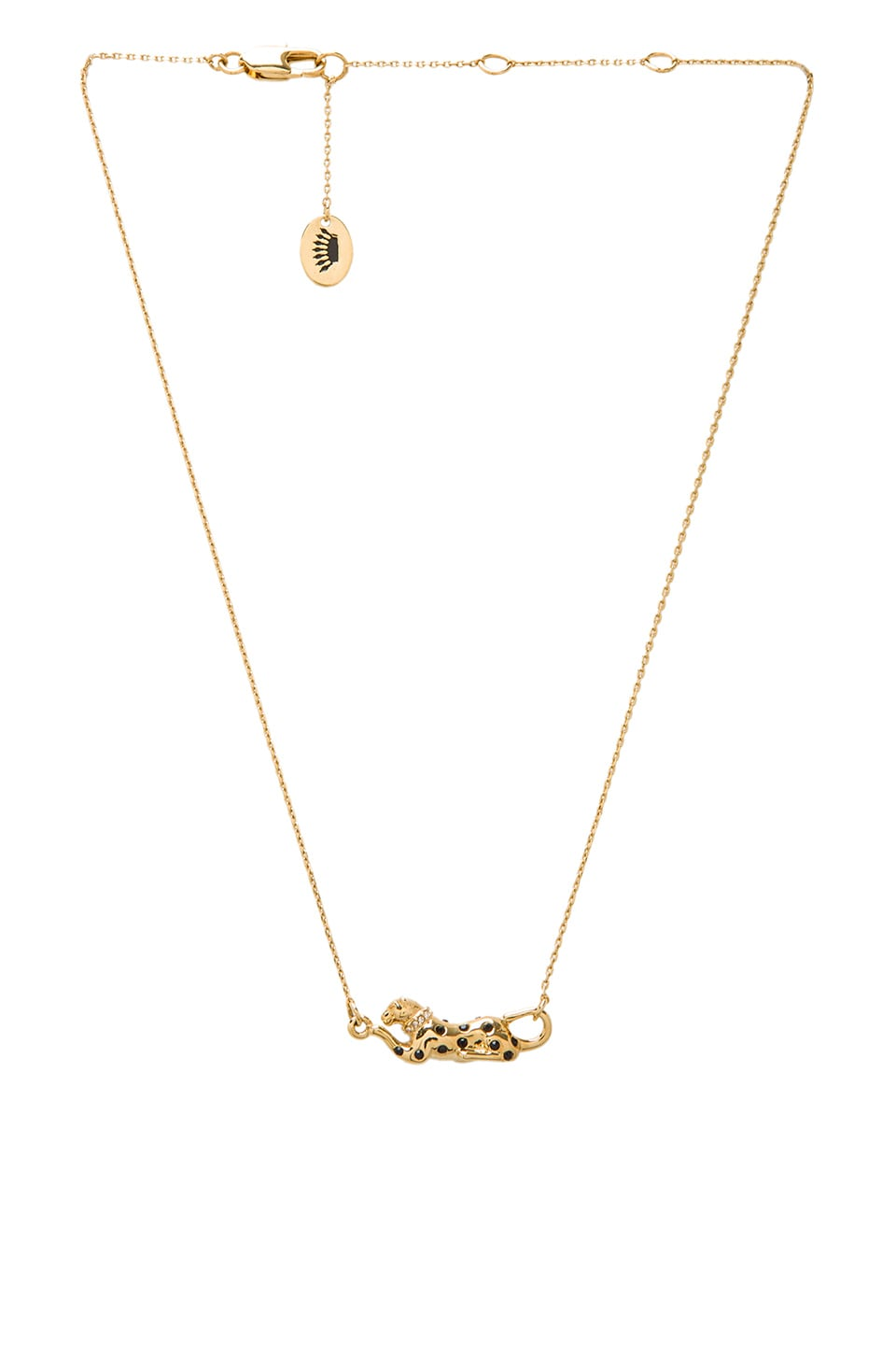 Juicy Couture Punk Panther Charm Necklace in Gold