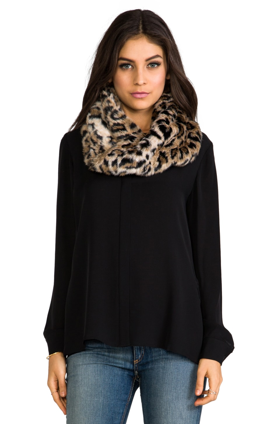 Juicy Couture Faux Fur Infinity Scarf in Leopard