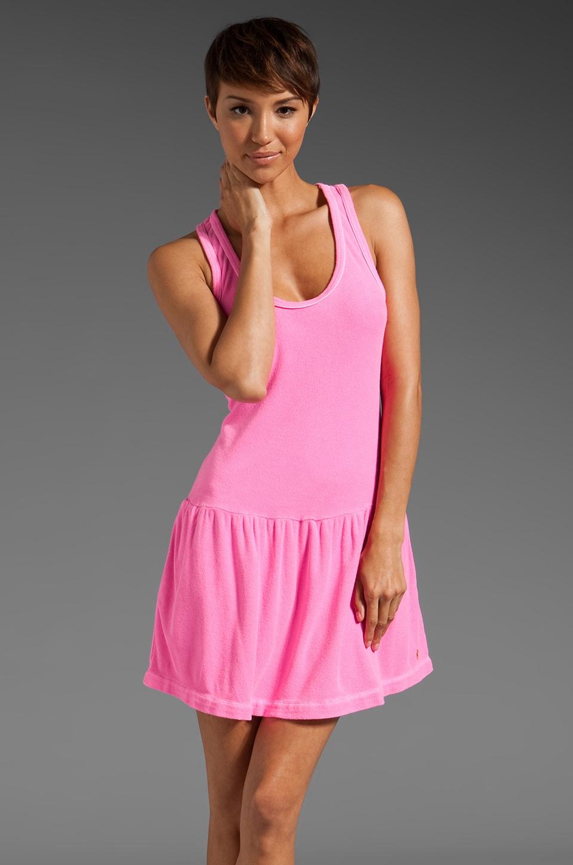 Juicy Couture Micro Terry Racerback Tank Dress in Ultra Light Fuchsia