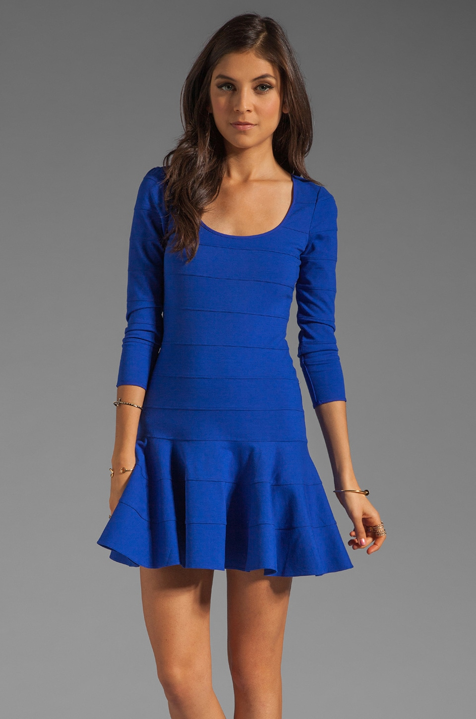 Juicy Couture Pieced Fluid Ponte Dress in Seaside