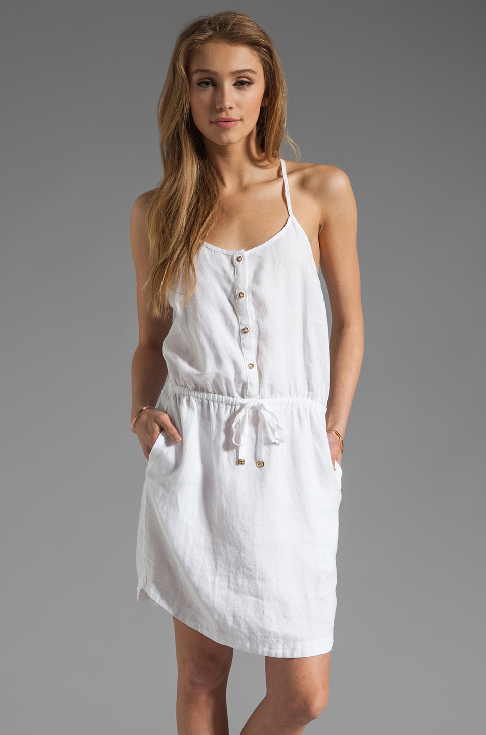 Juicy Couture Beach Linen Dress in White
