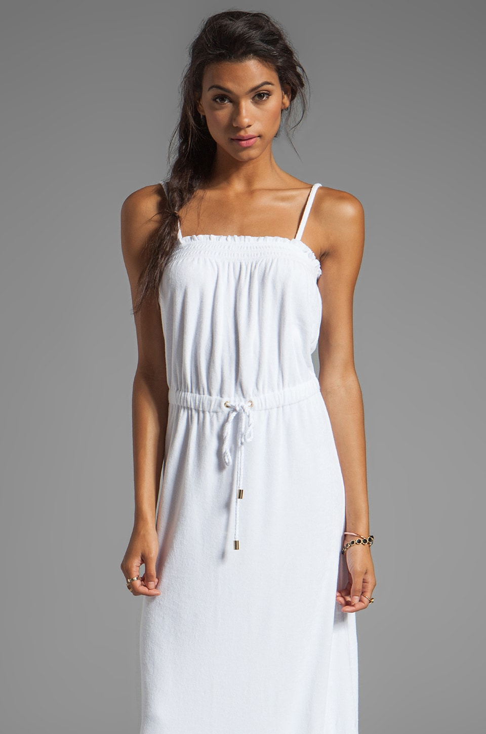 Juicy Couture Terry Maxi Dress in White
