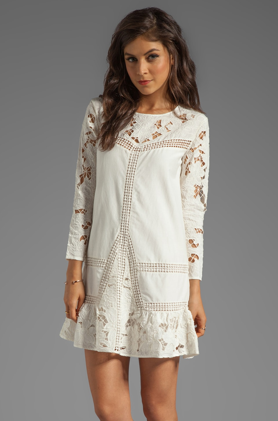 Juicy Couture Romantic Lace Dress in Angel