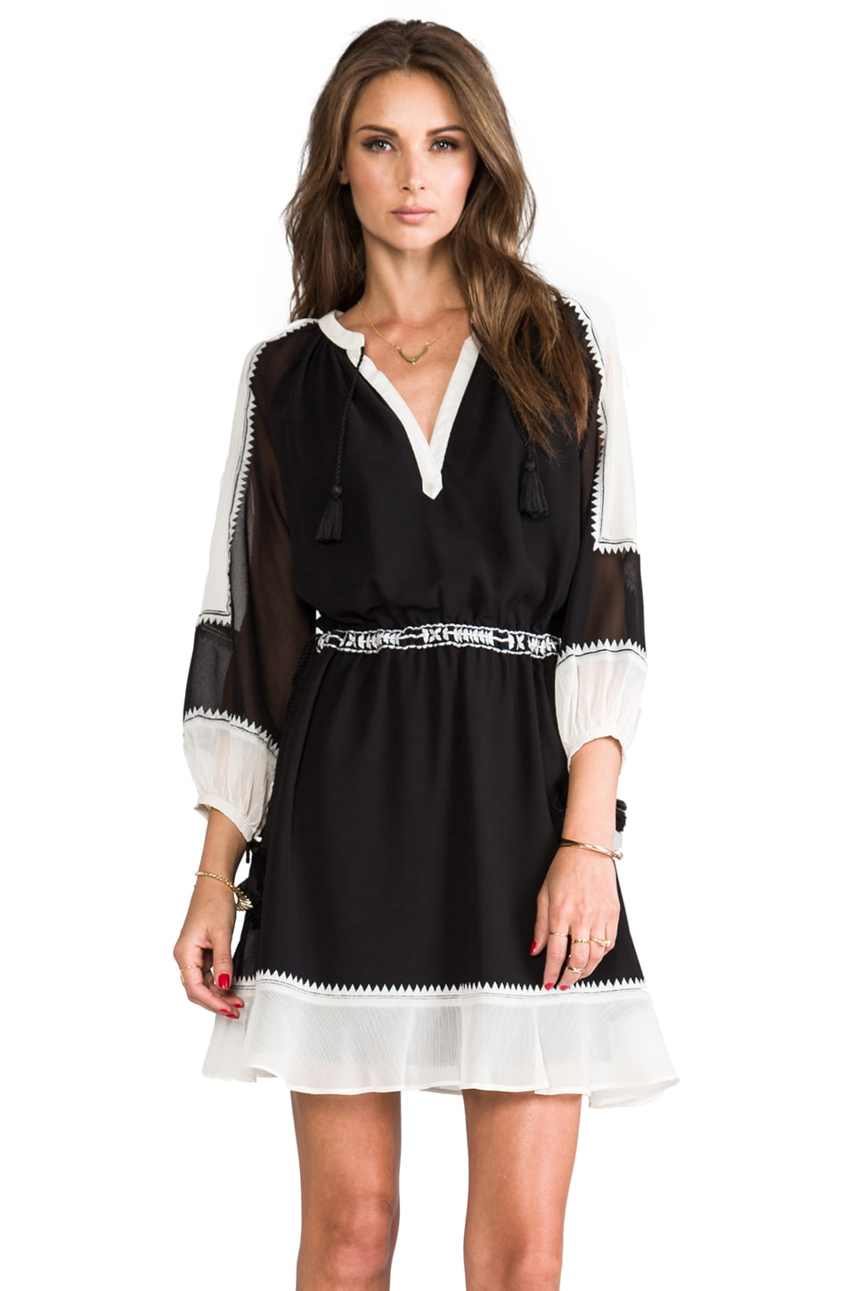 Juicy Couture Yasmin Dress in Pitch Black/Angel