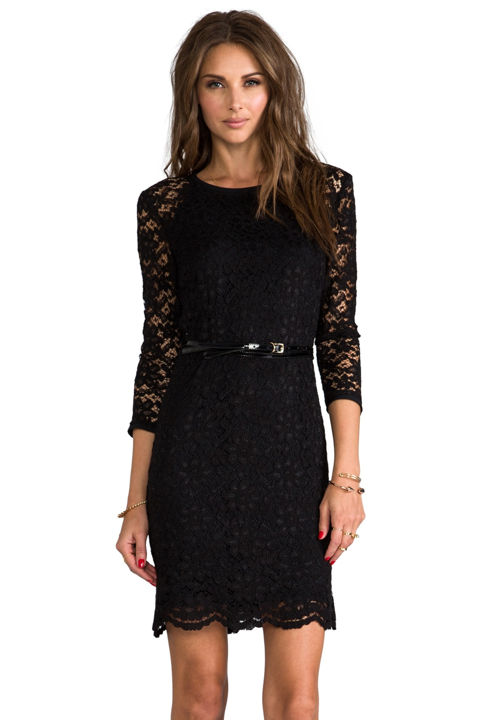 Juicy Couture Paige Dress in Pitch Black
