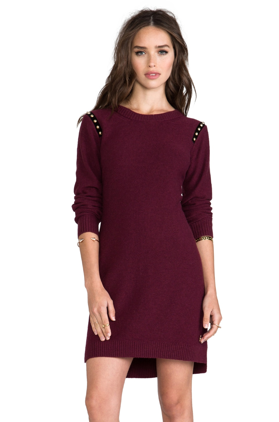 Juicy Couture Dress with Studded Shoulder in Mardi