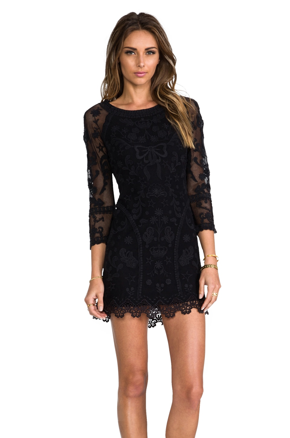 Juicy Couture Lace Dress in Black