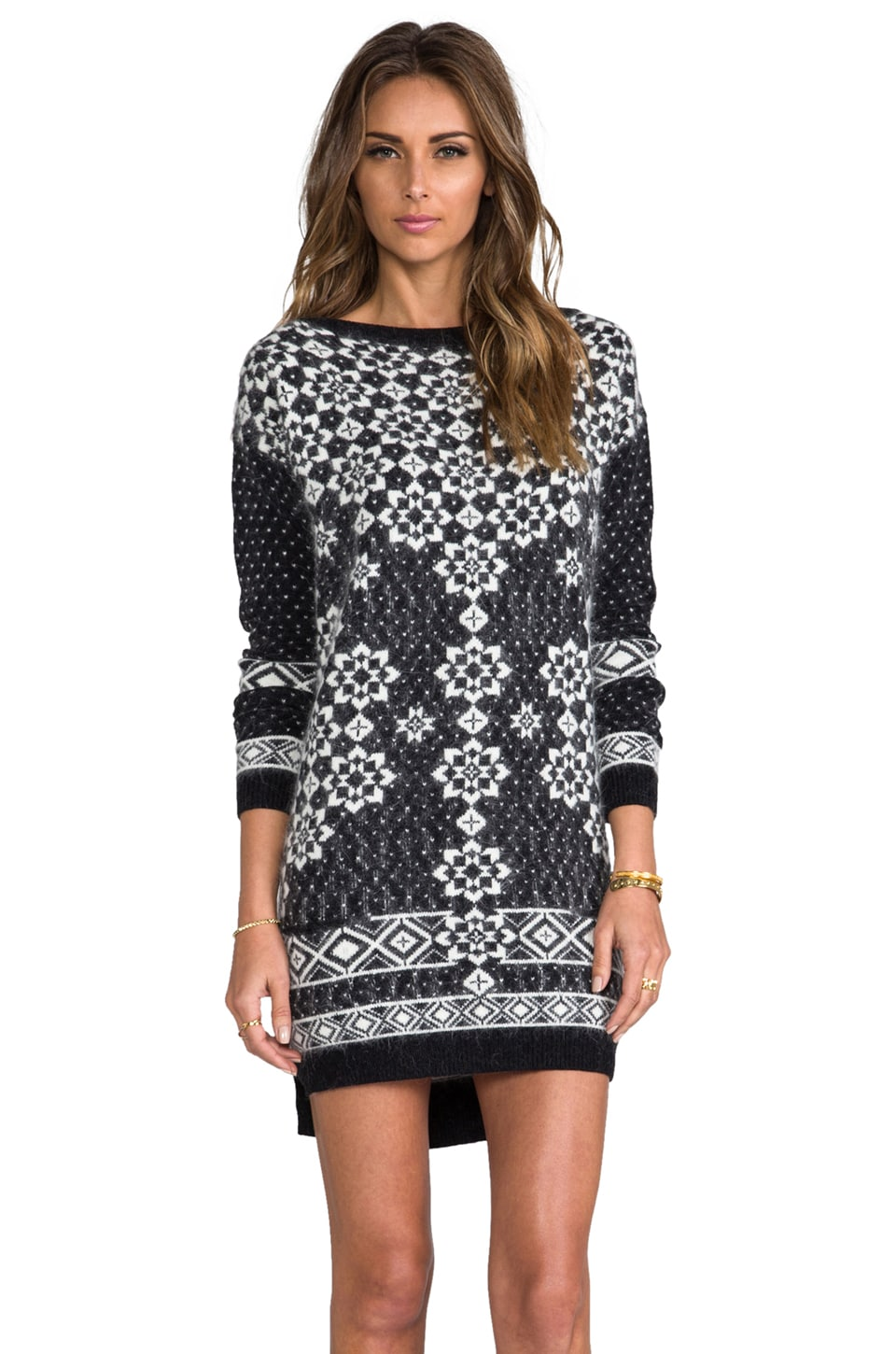 Juicy Couture Geo Snowflake Dress in Black & Angel