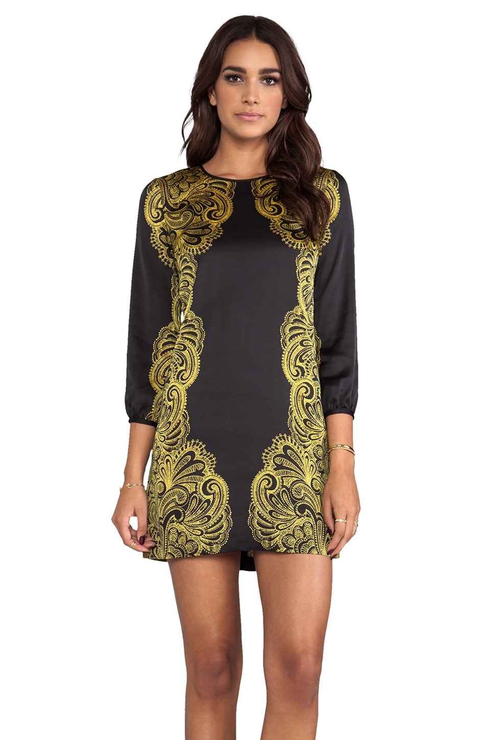 Juicy Couture Bohemian Paisley Dress in Pitch Black