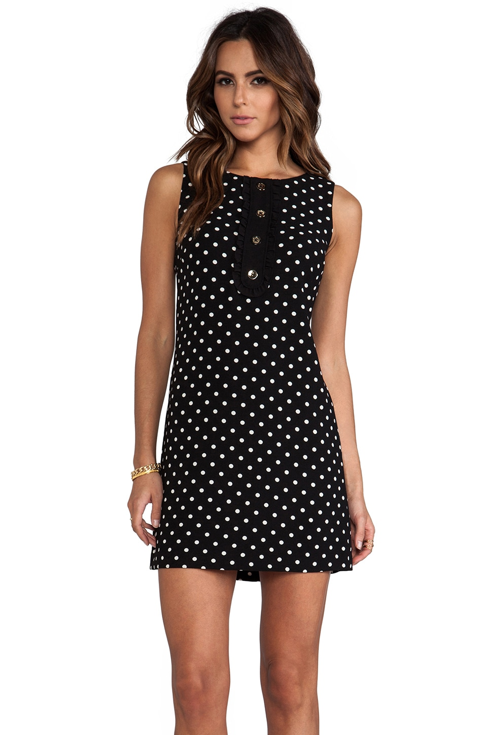 Juicy Couture Shoreham Dot Dress in Black & Angel