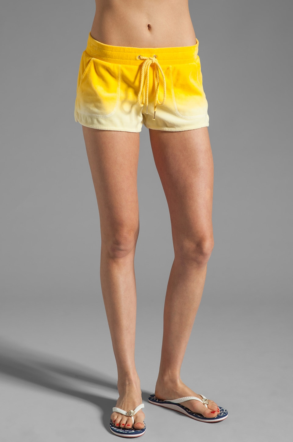 Juicy Couture Ombre Velour Dolphin Short in Pineapple