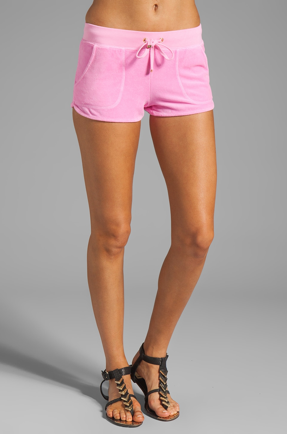 Juicy Couture Velour Neon Dolphin Short in Synthetic Pink
