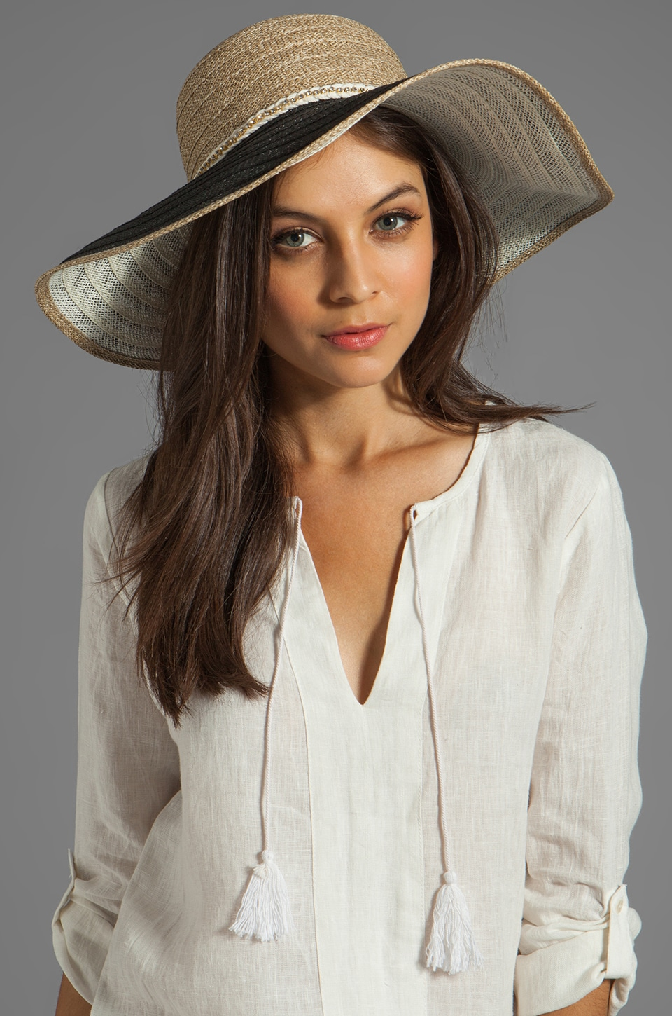Juicy Couture Oversized Beach Sun Hat in Natural