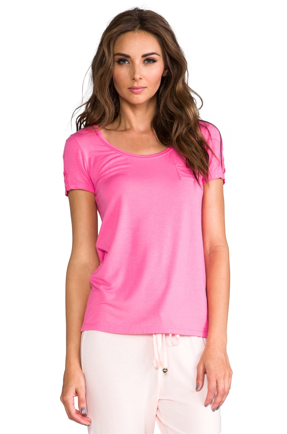 Juicy Couture Modal Tee in Light Helium Pink