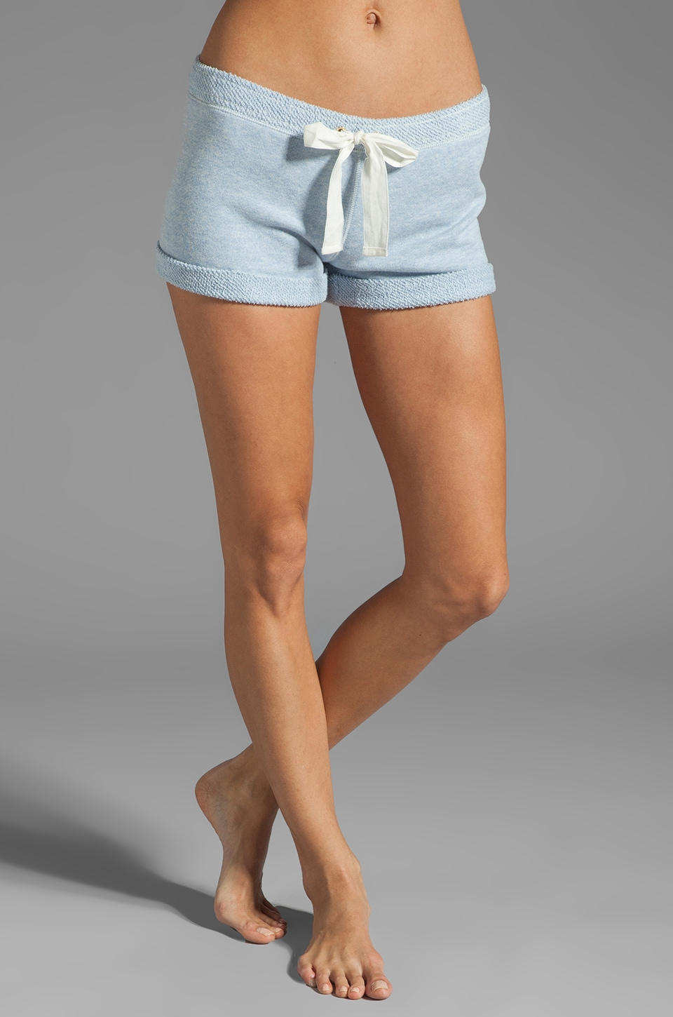 Juicy Couture Heathered Amalfi Terry Short in Heather Blue