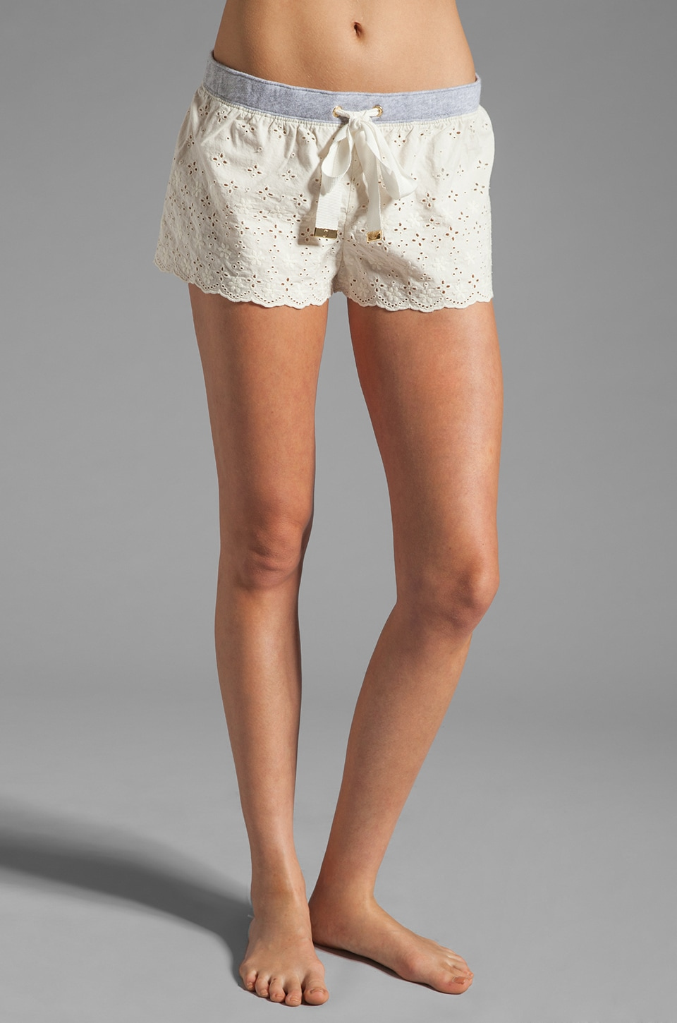 Juicy Couture Eyelet Short in Angel