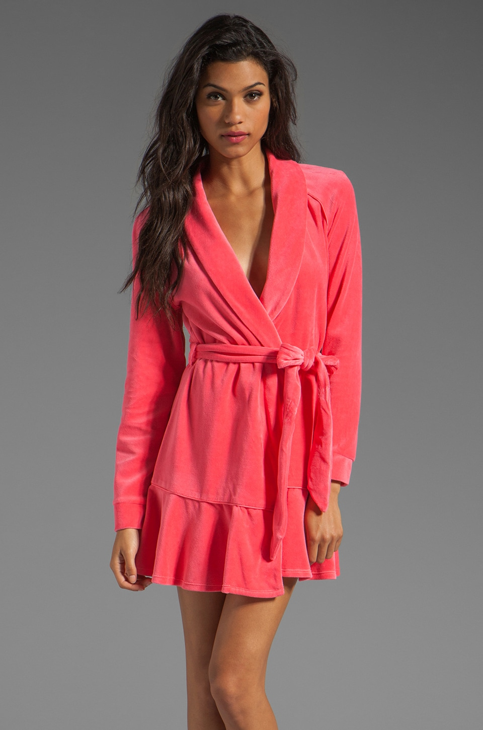 Juicy Couture Velour Robe in Bombshell