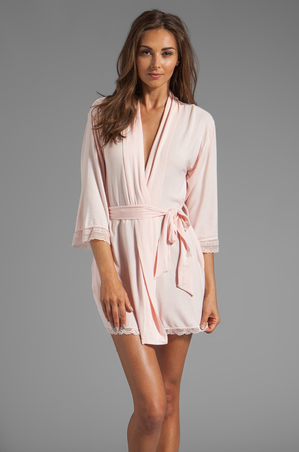 Juicy Couture Sleep Essential Robe in Petal Pink