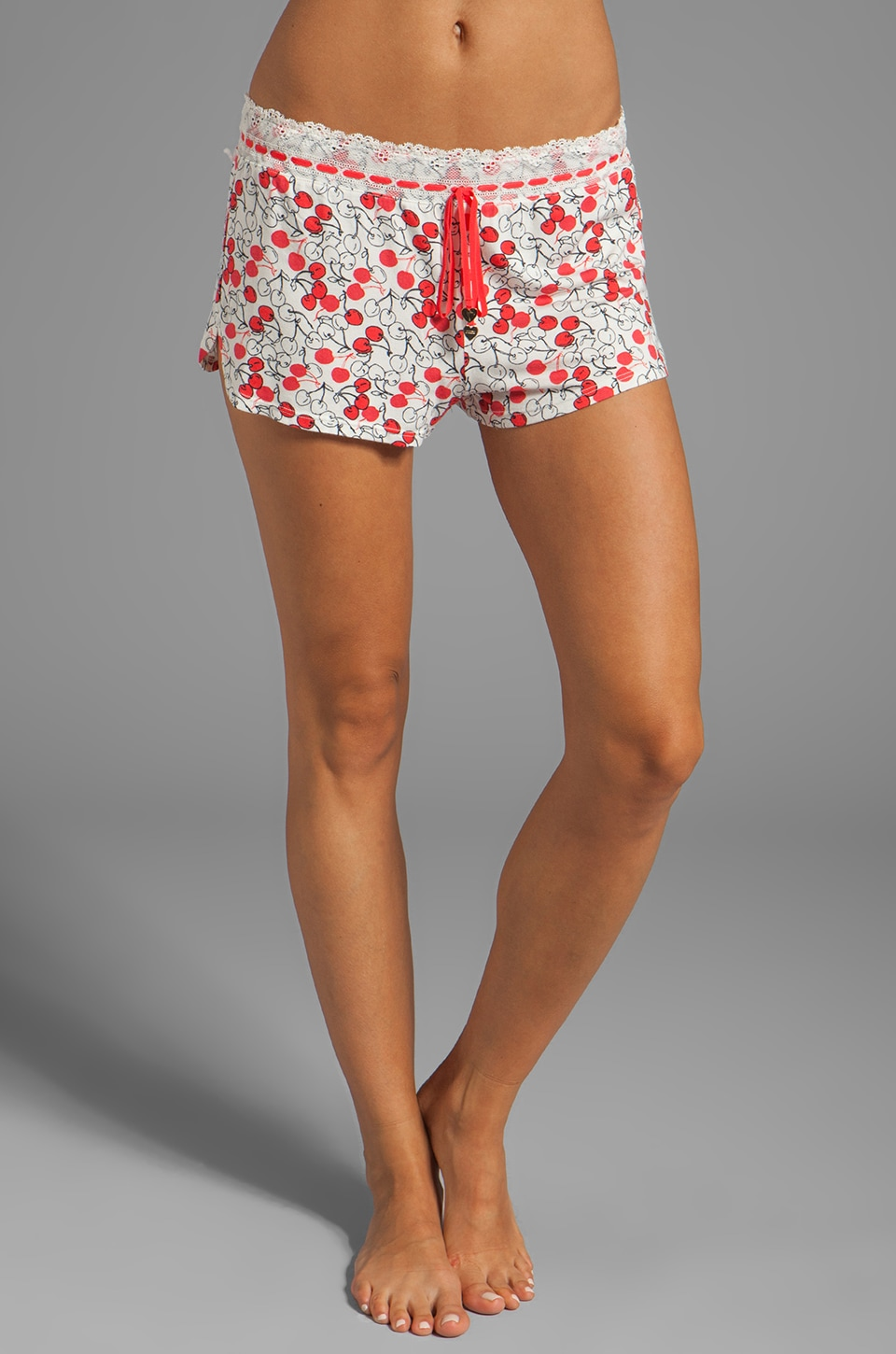 Juicy Couture Printed Short in Cardinal Sketch