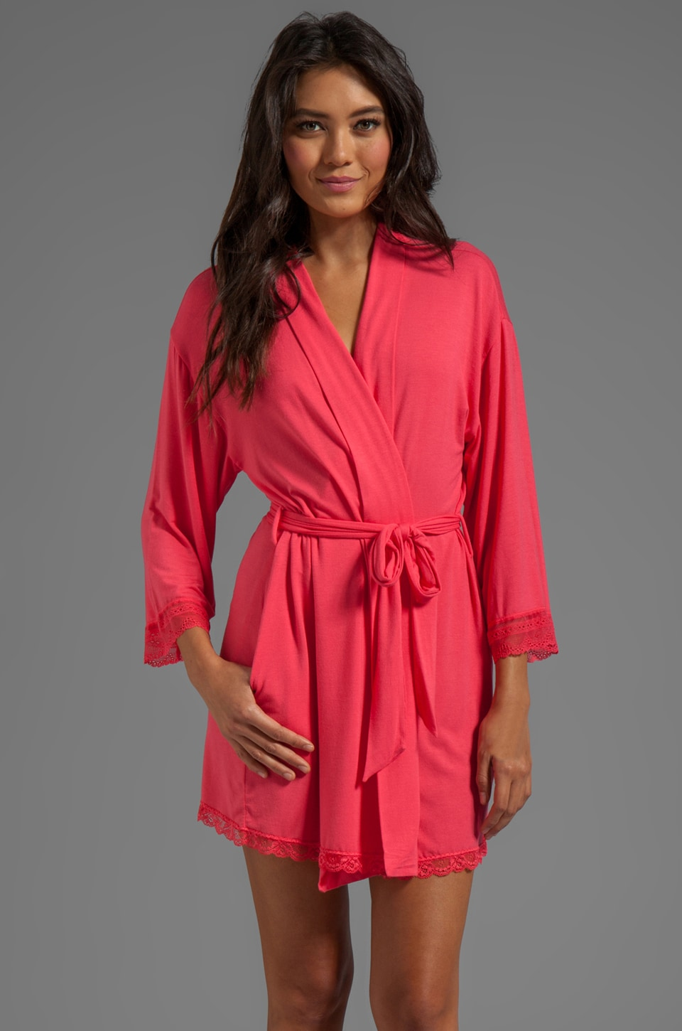 Juicy Couture Sleep Essential Robe in Geranium