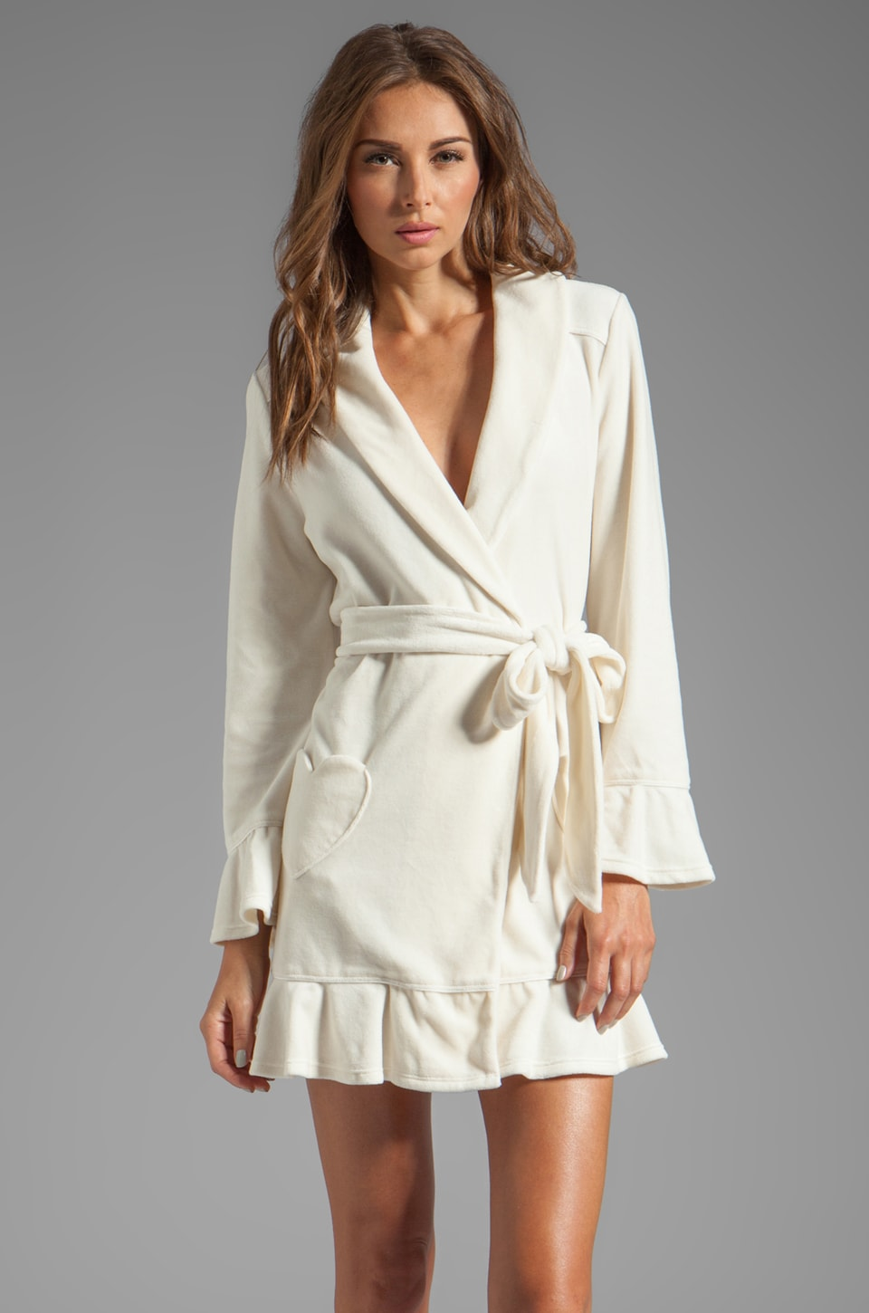 Juicy Couture Velour Robe in Angel