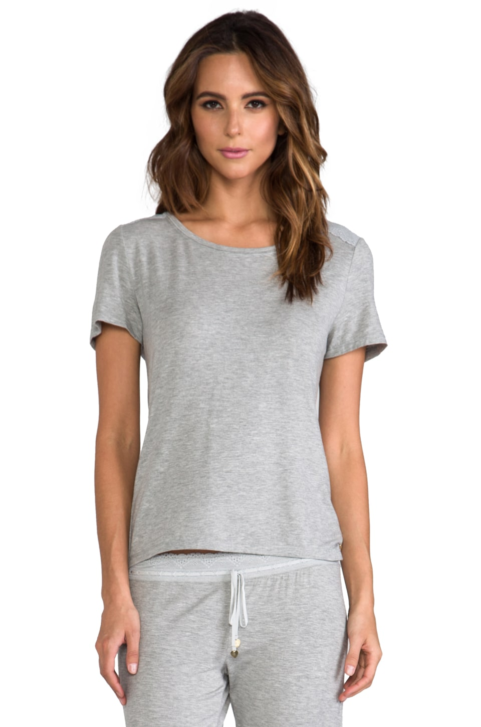 Juicy Couture Sleep Essential Tee in Heather Cozy