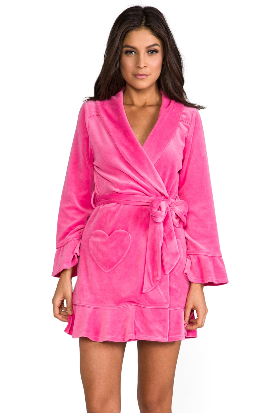 Juicy Couture Velour Robe in Highlighter