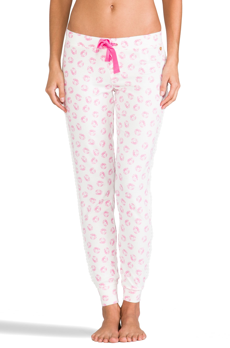 Juicy Couture Printed Model Pant in Angel Juicy Kiss