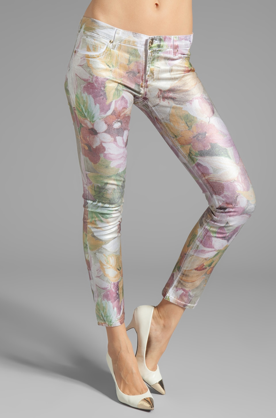 Juicy Couture Crop Jean in Tropical Floral