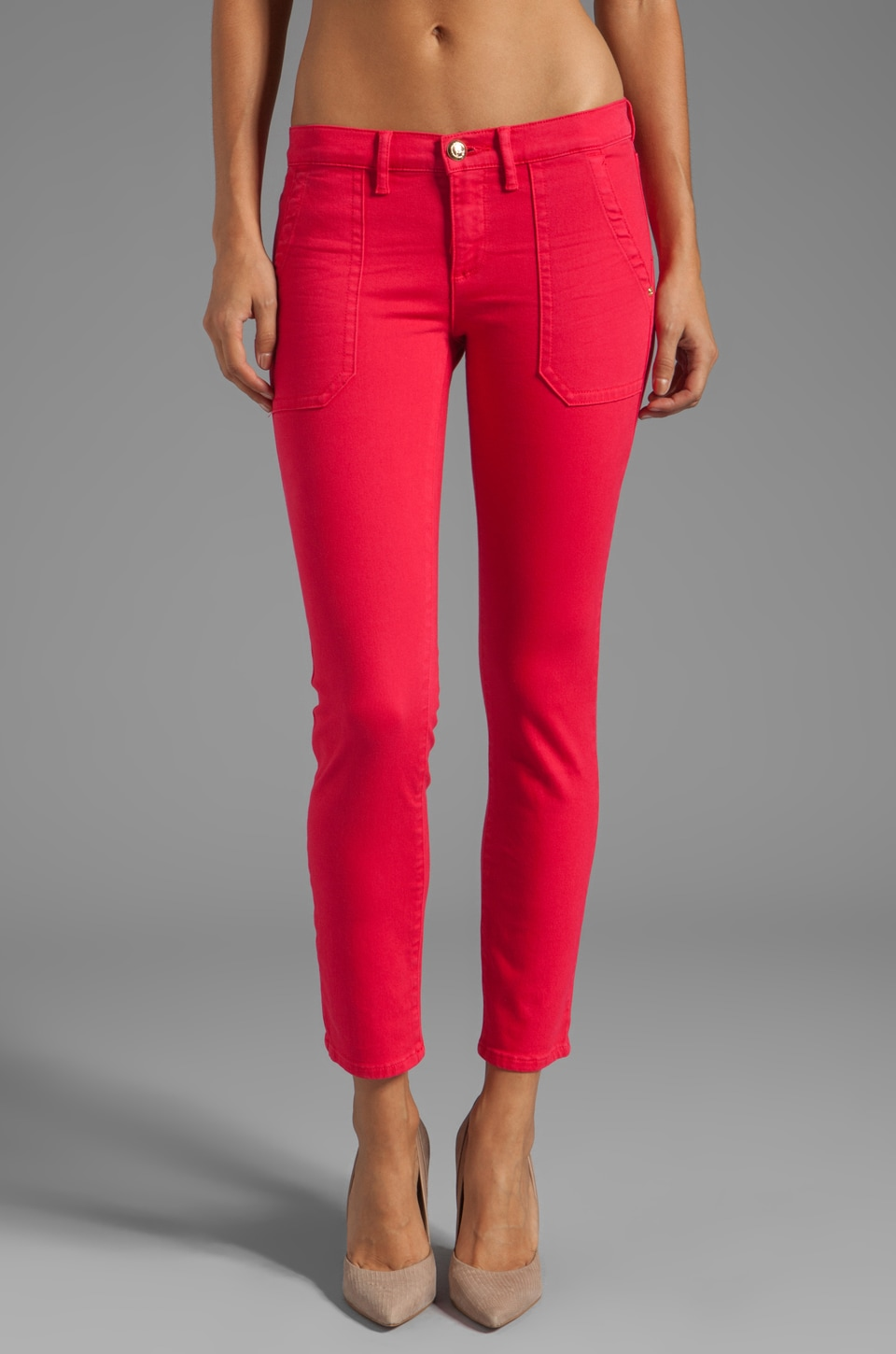 Juicy Couture Cargo Skinny Denim in Hot Cyclamen