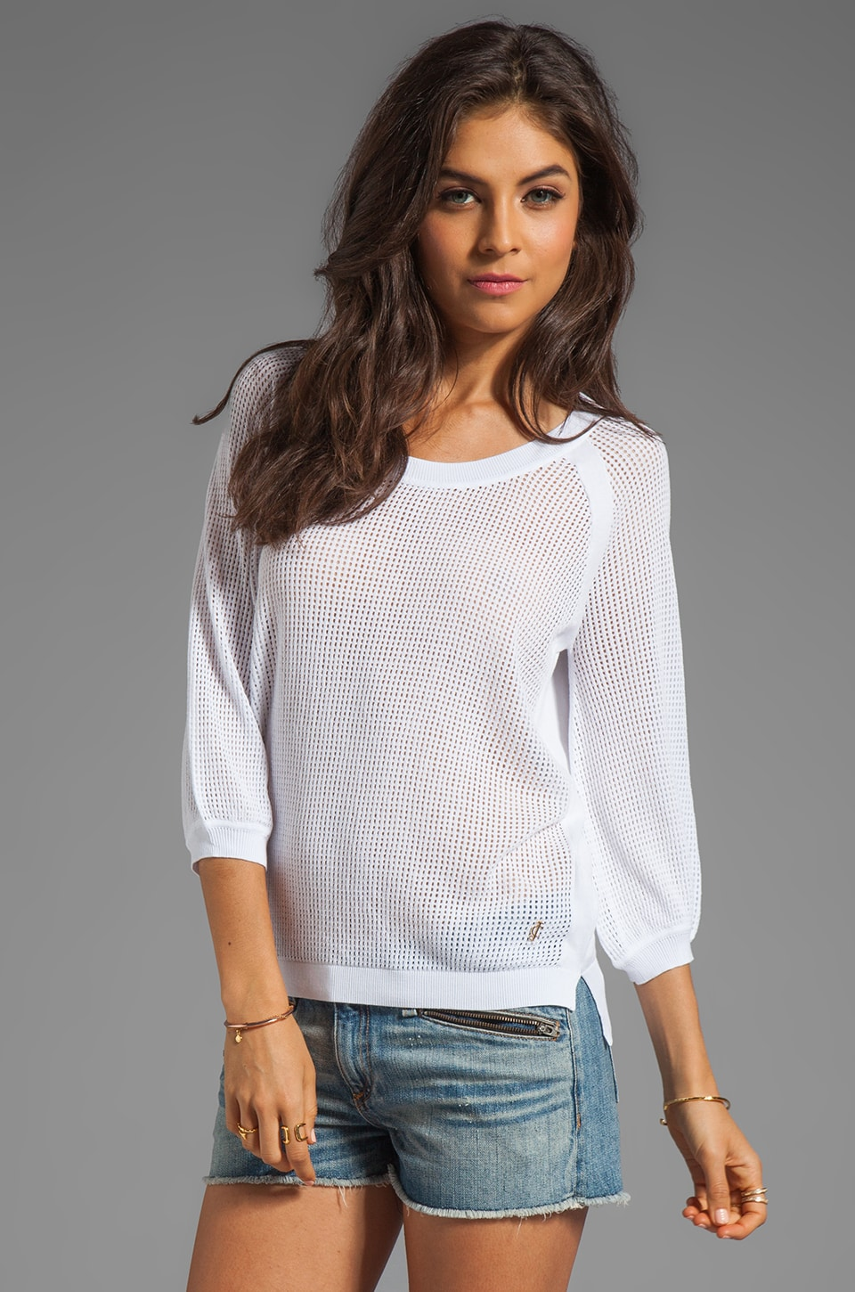Juicy Couture Catalina Pullover Sweater in White
