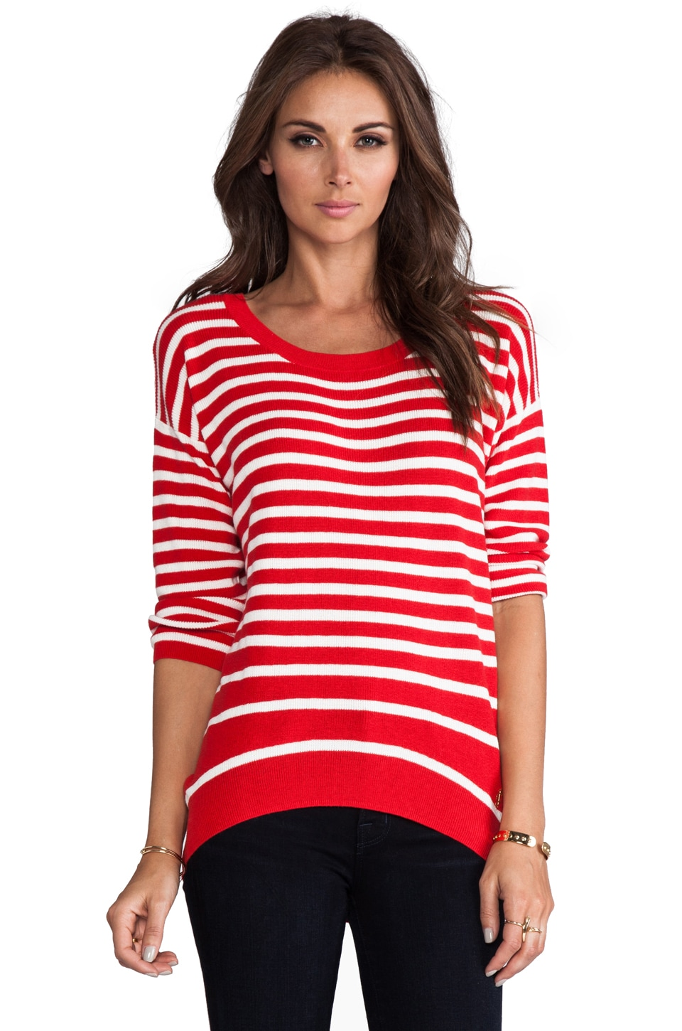 Juicy Couture Peyton Stripe Sweater in Fire/Angel