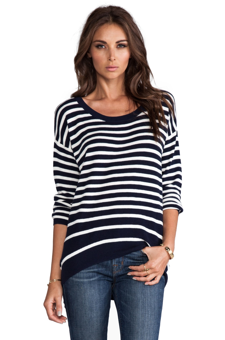 Juicy Couture Peyton Stripe Sweater in Regal/Angel