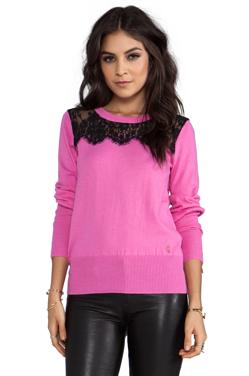 Juicy Couture Nicola Pullover in Fragrant Rose