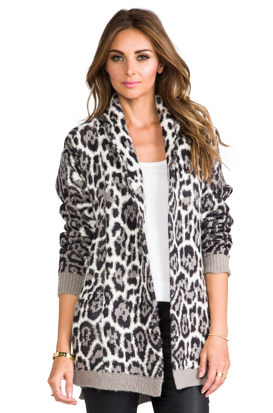 Juicy Couture Wild Lynx Jacquard Cardi in Angel