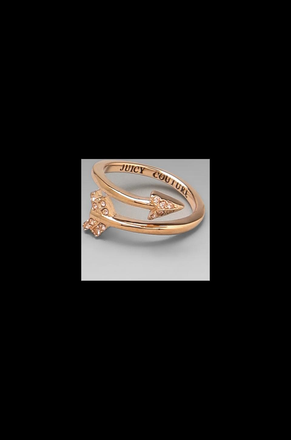 Juicy Couture Pave Arrow Ring in Pink Gold