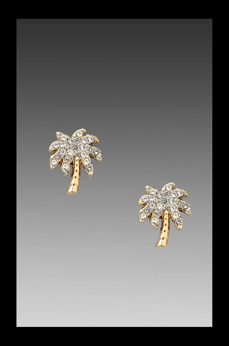 Juicy Couture Palm Tree Stud Earring in Gold