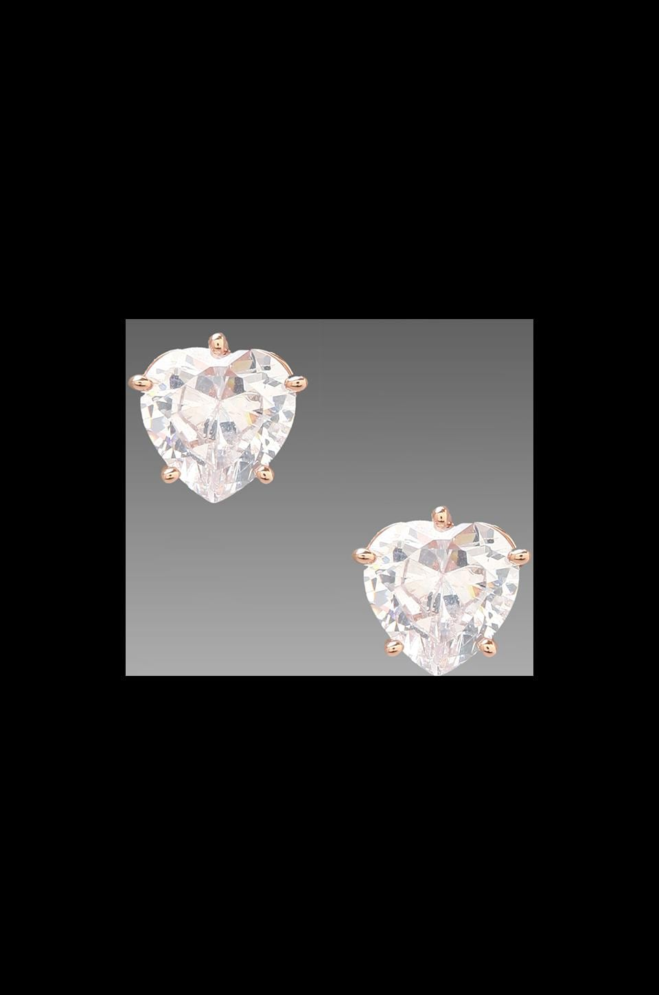 Juicy Couture Heart Studs in Rose Gold