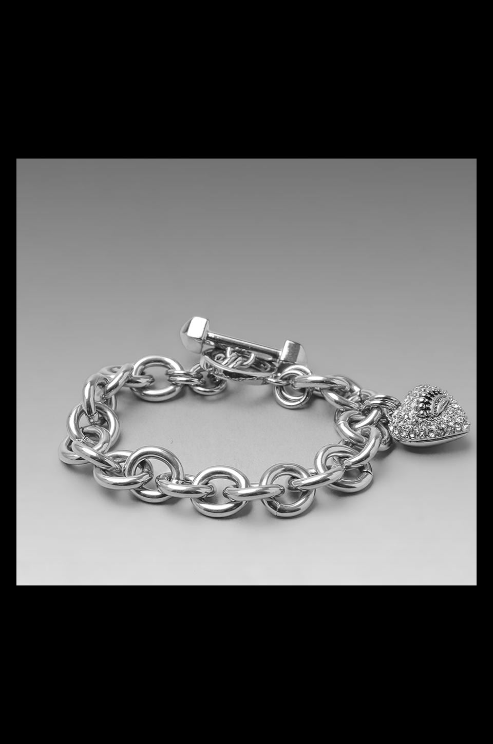 Juicy Couture Pave Icon Bracelet in Silver