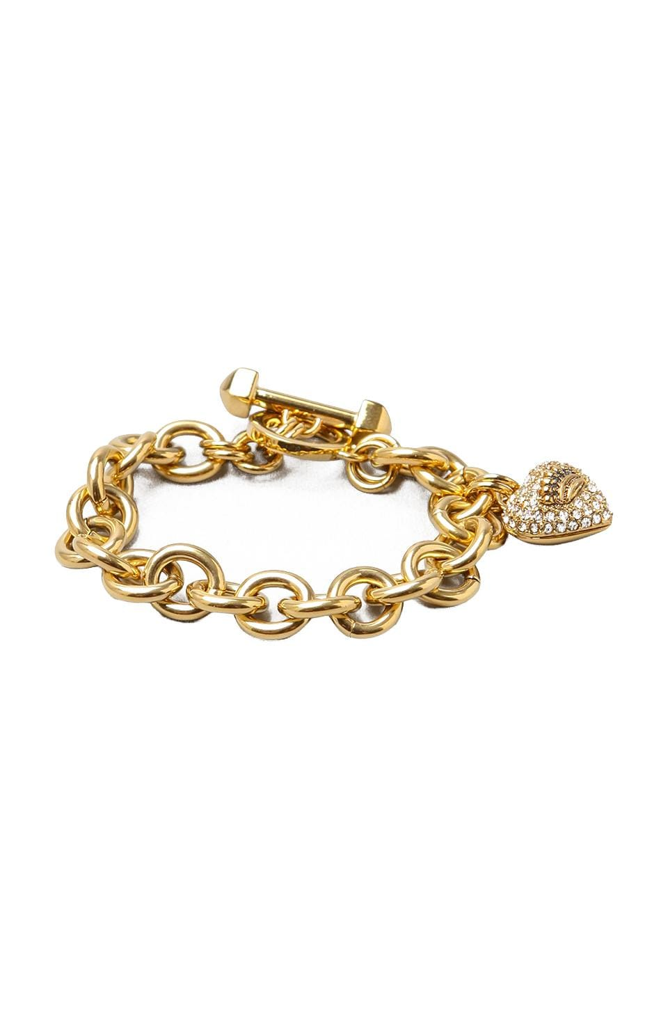 Juicy Couture Pave Icon Bracelet in Gold
