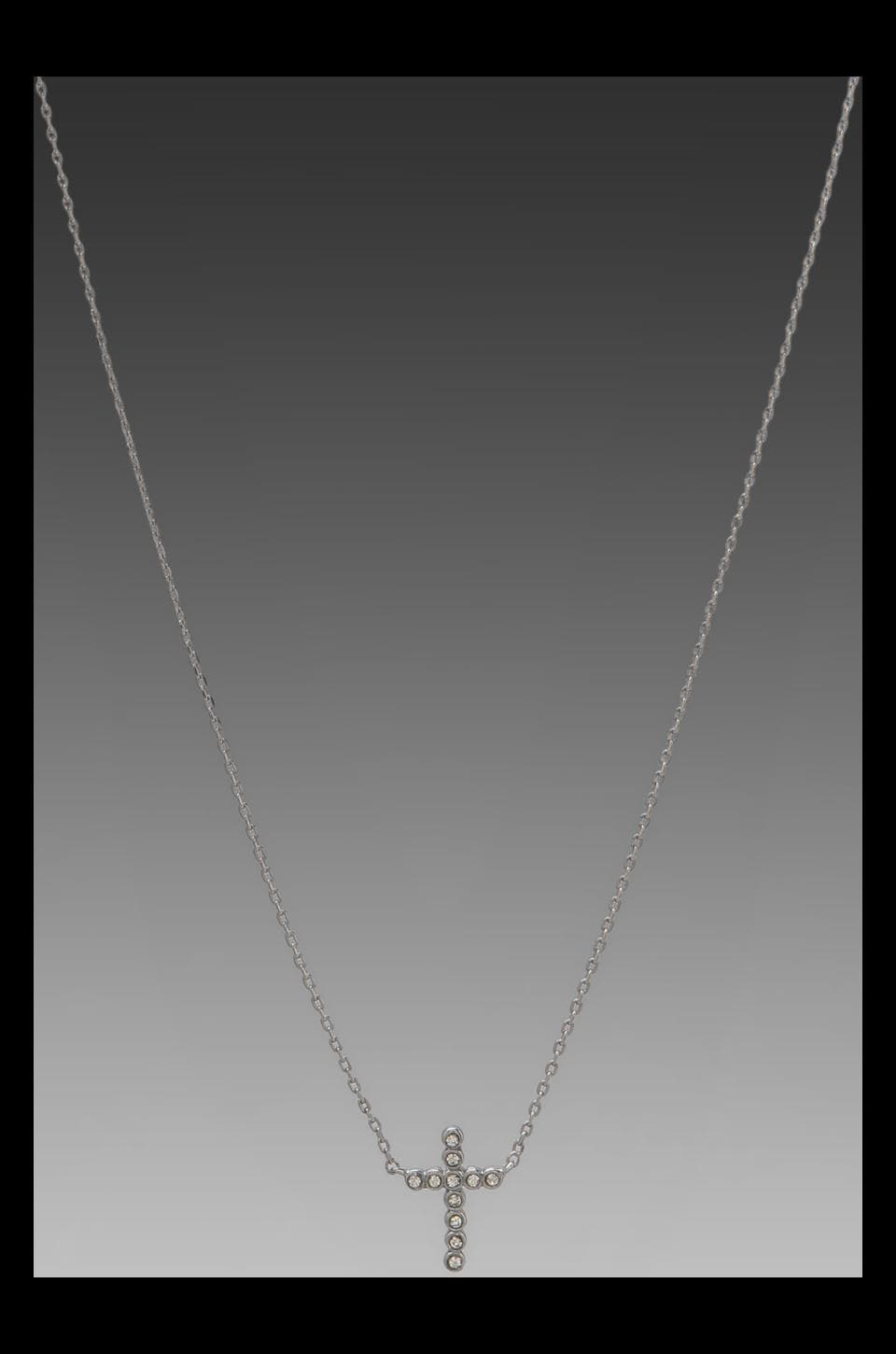 Juicy Couture Cross Necklace in Silver