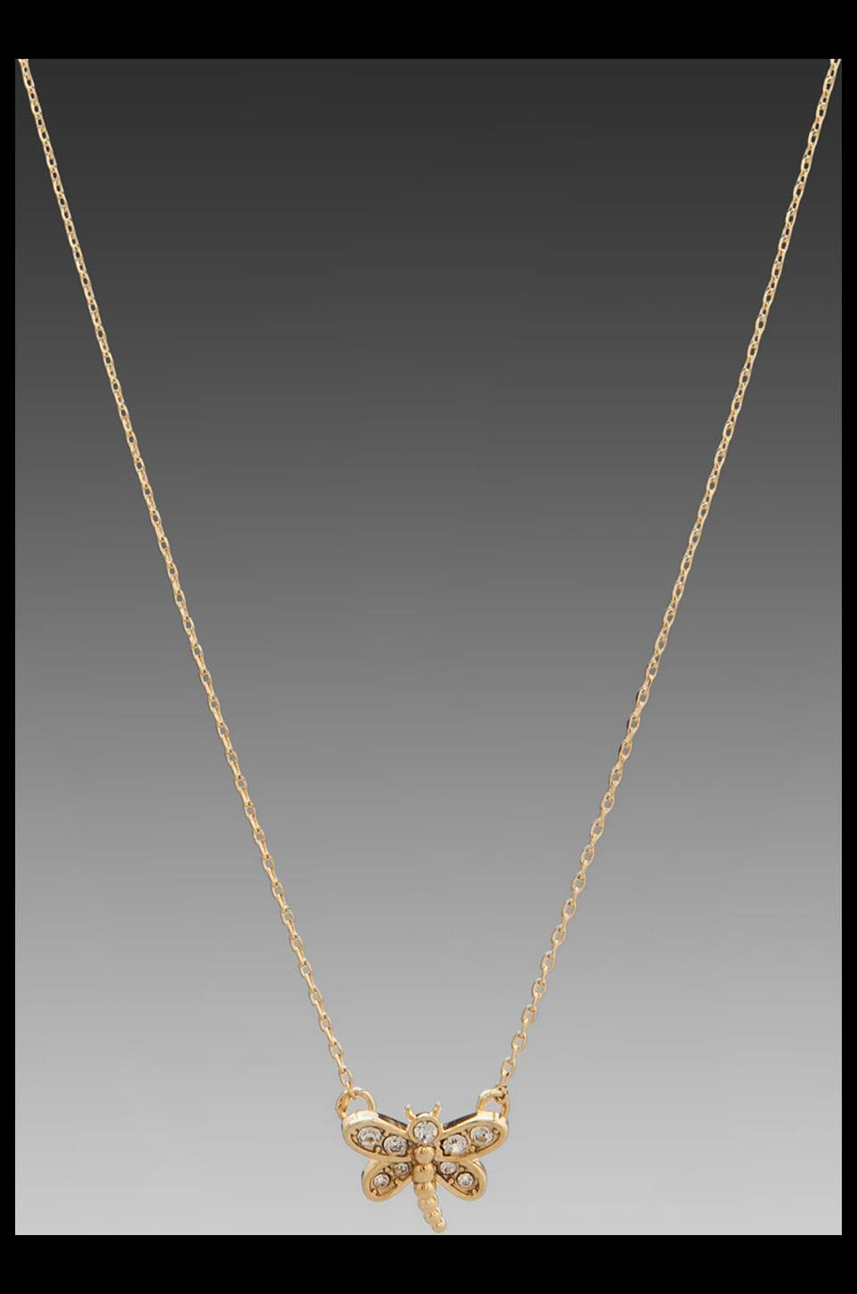 Juicy Couture Pave Dragonfly Necklace in Gold