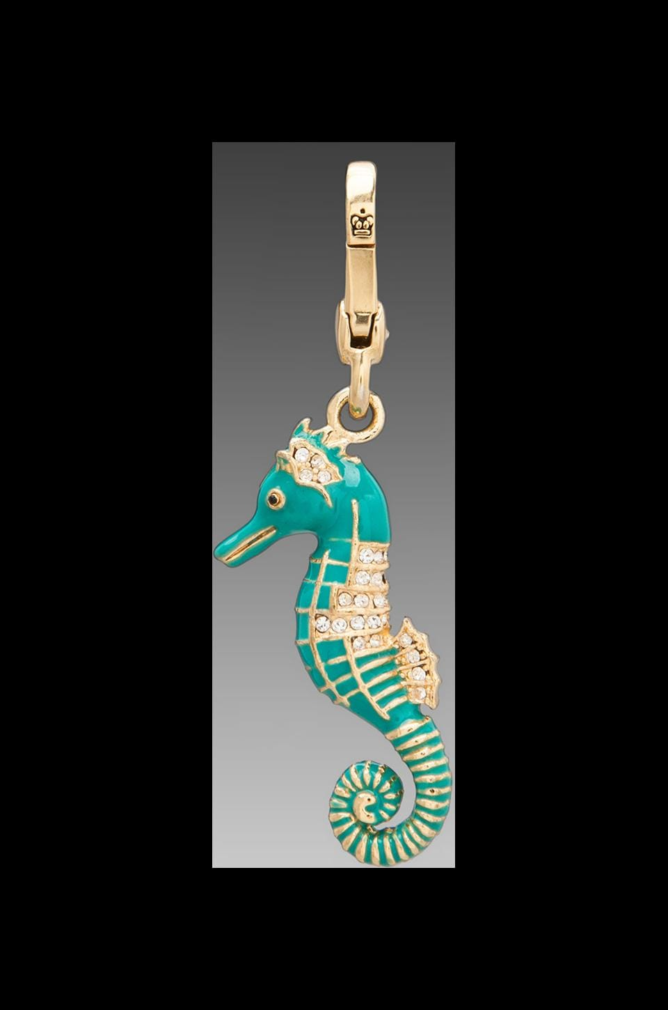 Juicy Couture Blue Seahorse Charm in Gold
