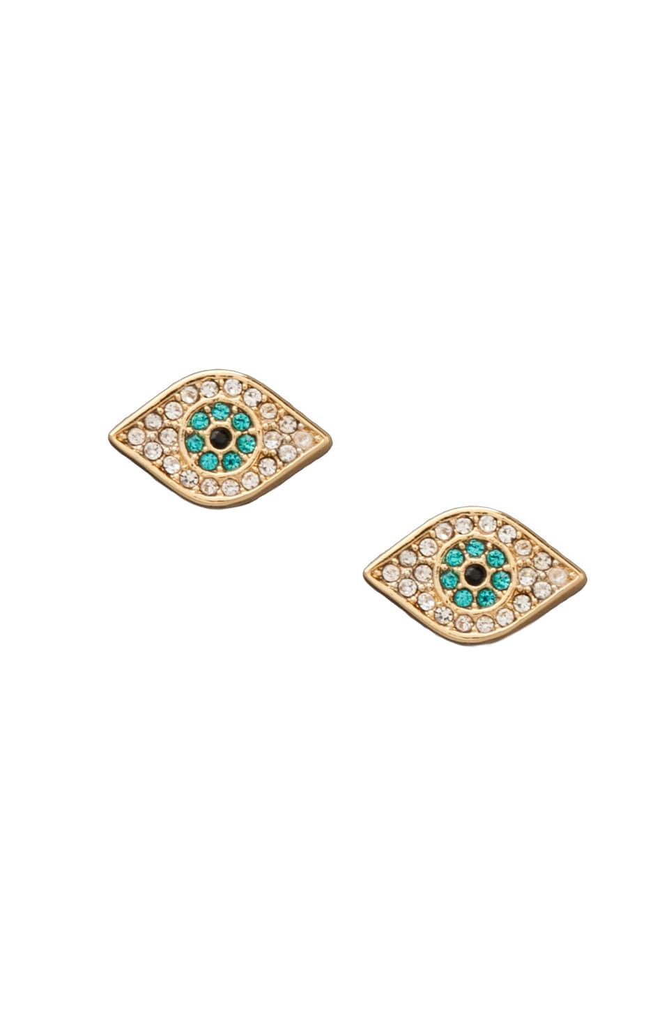 Juicy Couture Evil Eye Stud Earrings in Gold
