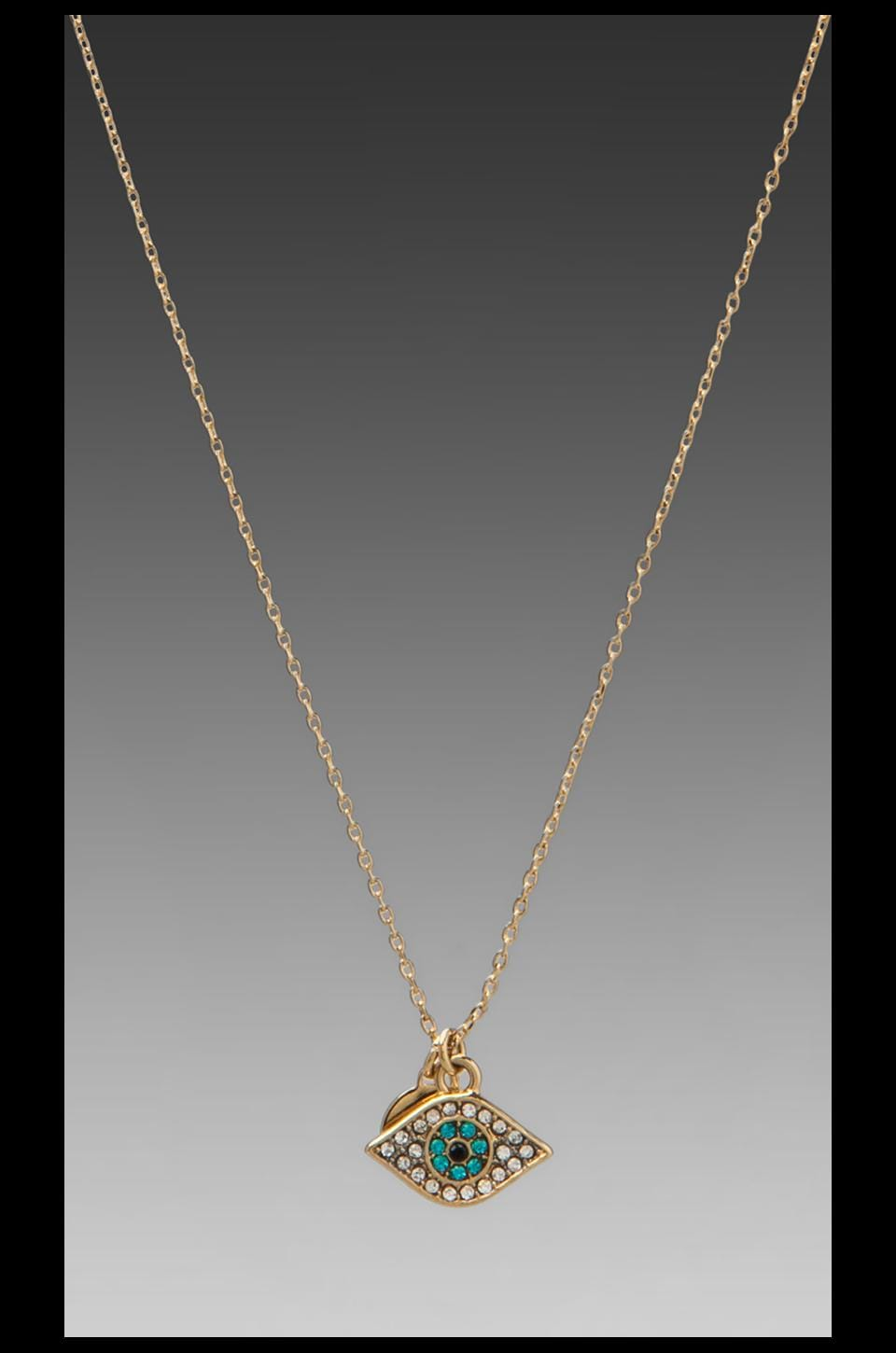 Juicy Couture Evil Eye Necklace in Gold