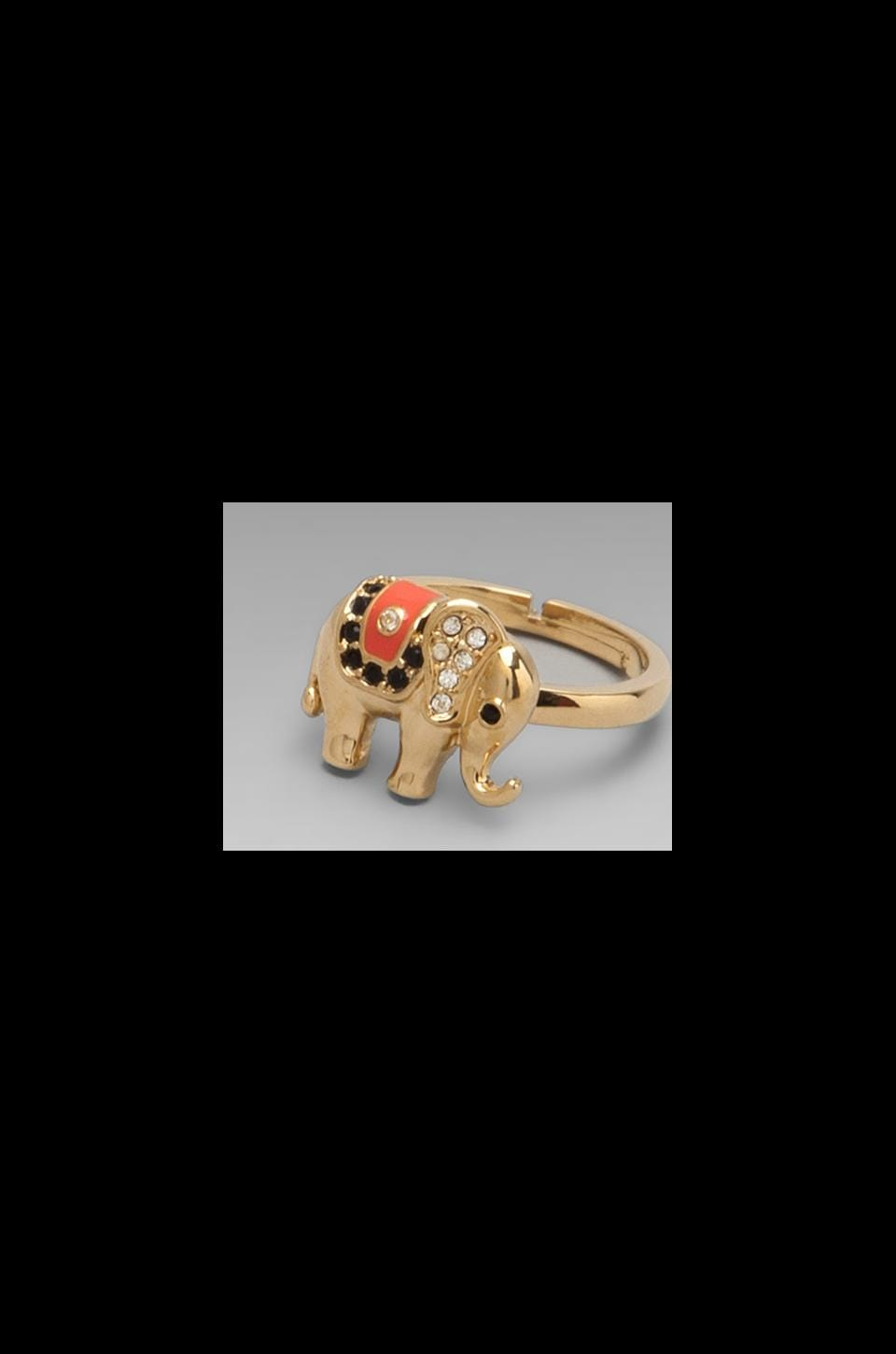 Juicy Couture Elephant Ring in Gold