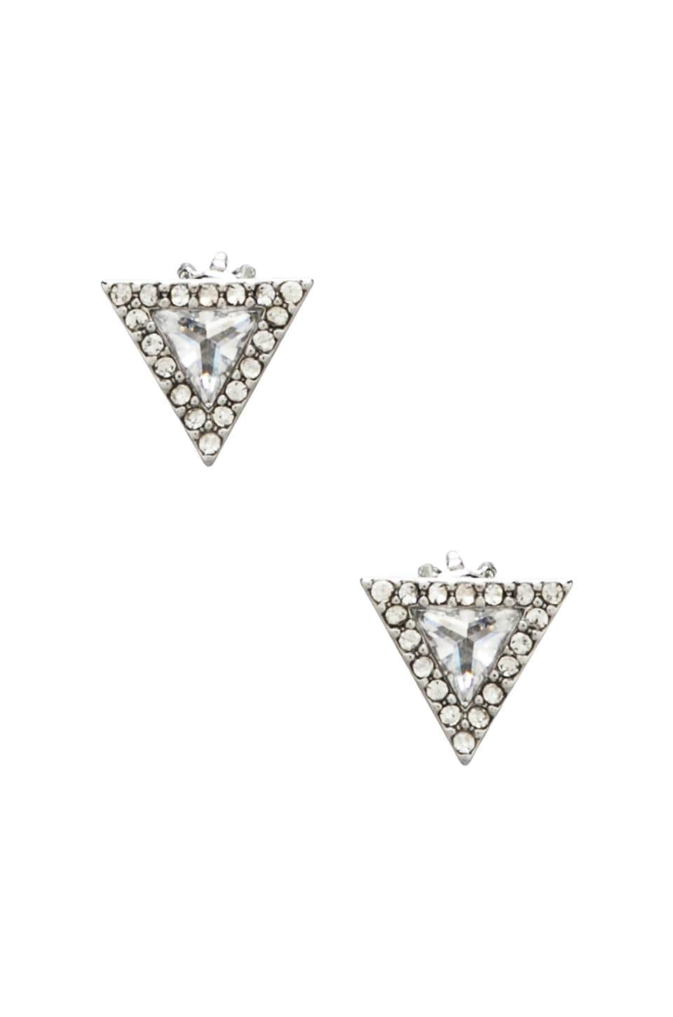 Juicy Couture Pave Triangle Stud in Silver